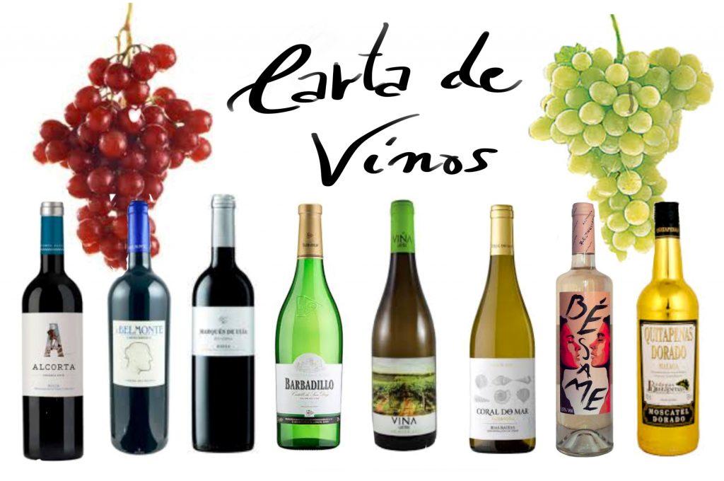 Carta de vinos El Zagal MALAGA